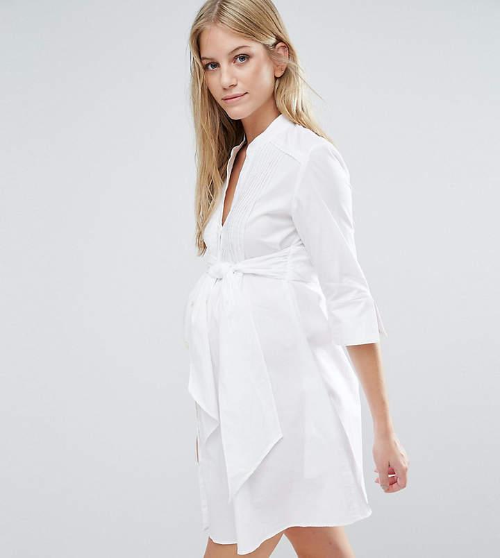 Isabella Oliver Longline Shirt Dress With Tie Waist