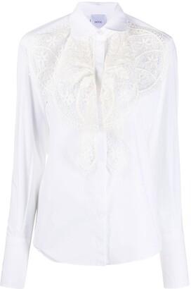 Patou Lace Bib Tailored Shirt