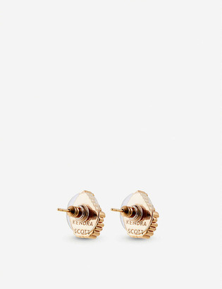 Kendra Scott Tessa 14ct gold-plated and drusy stone earrings