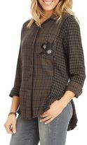 Democracy Plaid Cotton Casual Button-Down Shirt