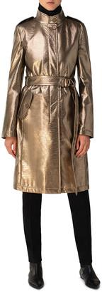 Akris Punto Metallic Trench Coat
