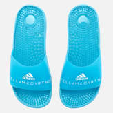 adidas by Stella McCartney Women's Adissage Slider Sandals Mirror Blue/Mirror Blue/FTWR White