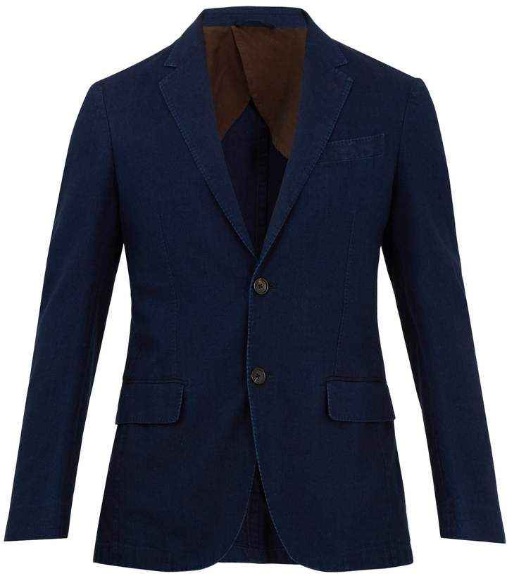 Ermenegildo Zegna Single-breasted cotton-twill blazer