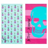 Betsey Johnson Pineapple Skull Beach Towel - Set of 2
