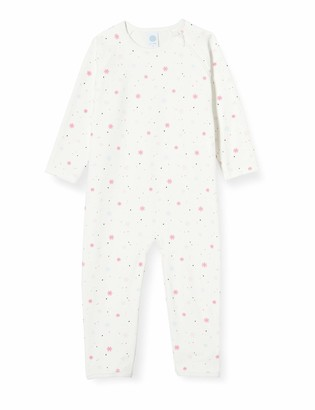Sanetta Baby Girls' Overall Broken White Toddler Sleepers
