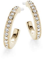Nadri Goldtone Channel Huggie Hoops