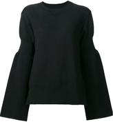 Sacai Flared Sleeve Sweatshirt - Black