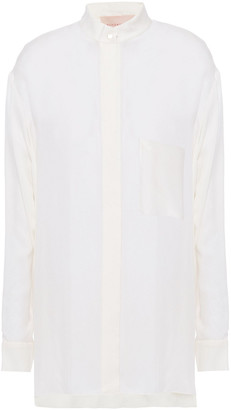 Roksanda Asymmetric Washed-twill Shirt