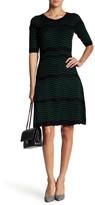 Taylor Dotted Chevron Knit Dress