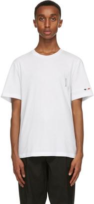 Moncler White Logo Sleeve T-Shirt