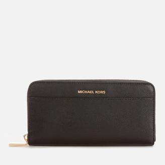 MICHAEL Michael Kors Women's Jet Set Pocket Zip Around Continental Wallet - Black