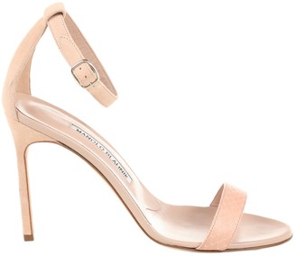 Manolo Blahnik Pink Leather Sandals