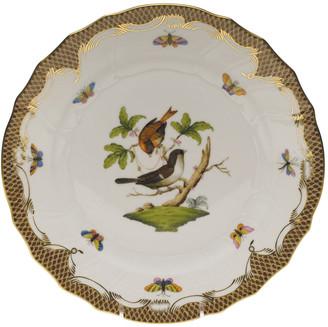 Herend Rothschild Bird Brown Motif 04 Dinner Plate