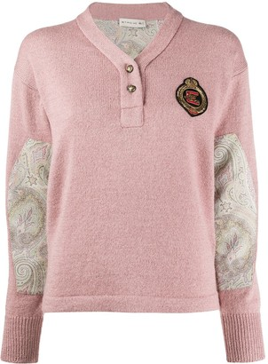 Etro Paisley-Panel Knit Jumper