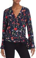 Parker Isabella Floral-Print Silk Wrap Top