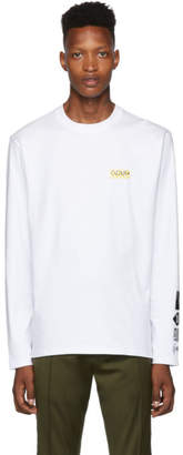 HUGO White Dyderabad Long Sleeve T-Shirt