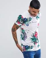 Criminal Damage Muscle Floral T-shirt