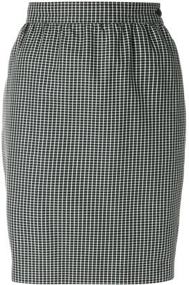 Emanuel Ungaro Pre-Owned Micro Check-Print Pencil Skirt