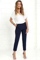 LuLu*s Kick It Navy Blue Trouser Pants