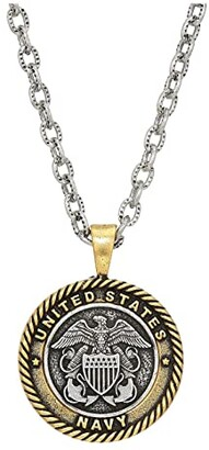 Alex and Ani Navy 28 Necklace (Two-Tone) Necklace