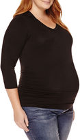 Asstd National Brand Planet Motherhood Maternity Long-Sleeve Knit Hoodie - Plus