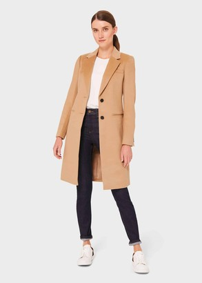 Hobbs Petite Tilda Wool Collar Coat