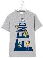 Fendi FF print T-shirt - kids - Cotton - 5 yrs