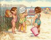 Dimensions Needlecrafts Counted Cross Stitch, Beach Babies
