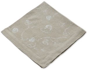 Michael Aram Botanical Leaf Printed Linen Dinner Napkin