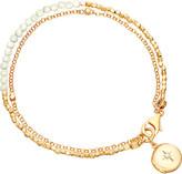 Astley Clarke Biography 18ct gold-plated moonstone bracelet