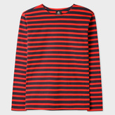 Paul Smith Men's Red And Navy Breton-Stripe Long-Sleeve T-Shirt