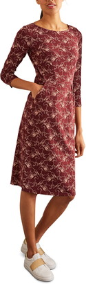 Boden Penny Print Cotton Jersey Dress