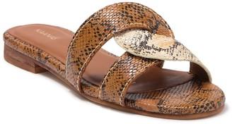 Kaanas Santorini Snakeskin Infinity Loop Slide Sandal