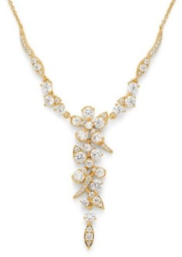 """Eliot Danori Cubic Zirconia Floral Statement Necklace, 16"""" + 1"""" extender, Created for Macy's"""