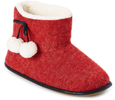 Hanes Heather Spiced Red Sherpa-Lined Slipper Boot