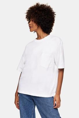 Topman Womens White Boxy T-Shirt - White