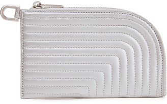 Rick Owens Quilted Metallic Leather Key Wallet