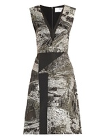 Prabal Gurung Lurex-jacquard V-neck dress