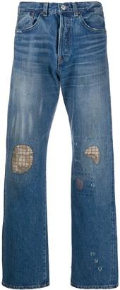 Junya Watanabe Man X Levi's Cropped Rip Detail Jeans