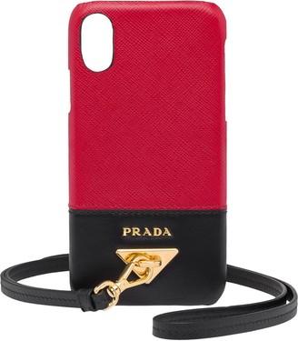 Prada wrist-strap iPhone X/XS case