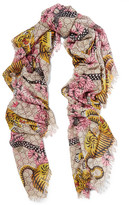Gucci Printed Modal And Silk-blend Scarf - Pink