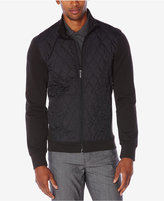 Perry Ellis Men's Quilted Mixed-Media Jacket