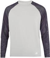 adidas Hybrid mesh-sleeved jersey sweatshirt