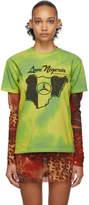 Mowalola SSENSE Exclusive Green and Yellow Love Nigeria Tie-Dye T-Shirt