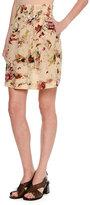 Tomas Maier Cosmic Floral Silk Skirt, Multi