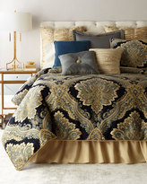 Raymond Waites King Navy Chenille 3-Piece Comforter Set