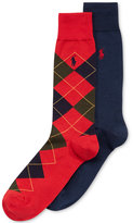 Polo Ralph Lauren Men's Argyle Dress Crew Socks 2-Pack