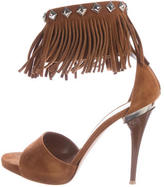 Gianvito Rossi Suede Fringed Sandals