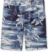 Officine Generale Julian Slim-Fit Printed Cotton Shorts
