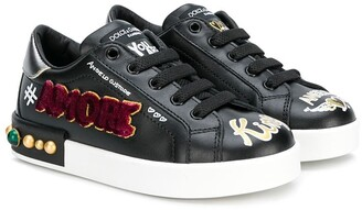 Dolce & Gabbana Amore embellished sneakers